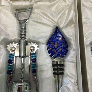 Other - Cork screw & bottle stopper set